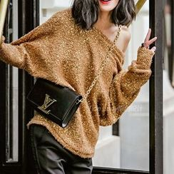 Athena - Boucle Sequined Sweater