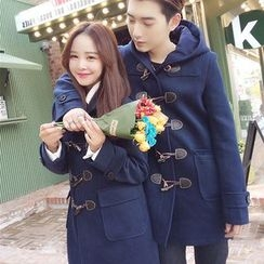 Evolu Fashion - Couple Matching Hooded Toggle Coat