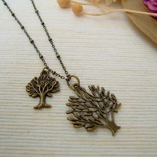 MyLittleThing - Copper Double Trees Necklace
