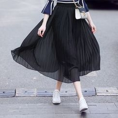 Romeo & Juliet - Pleated Midi Chiffon Skirt