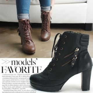 Reneve - Zip-Trim Ankle Boots