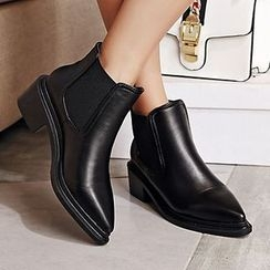 Gizmal Boots - Buckled Chelsea Ankle Boots