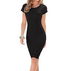 Storywise - Short-Sleeve Sheath Dress