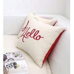 iswas - Lettering Cushion Cover