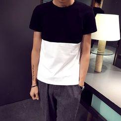 JEUX - Colour Block Short-Sleeve T-shirt