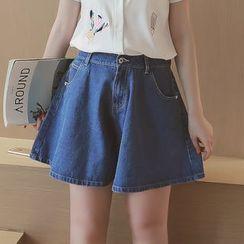 Munai - A-Line Denim Shorts