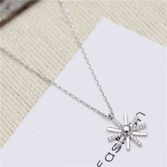 Best Jewellery - Rhinestone Snowflake Necklace
