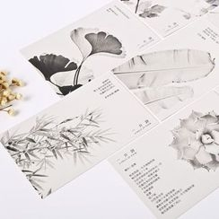 Milena - Leaf Print Postcard Set (30 pcs)