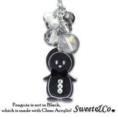 Sweet & Co. - Mini Black Bowtie Penguin Necklace