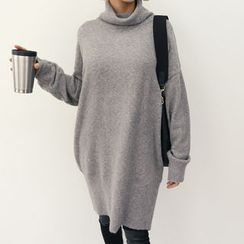 DANI LOVE - Cowl-Neck Drop-Shoulder Sweater Dress