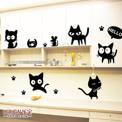 LESIGN - Wall Cat Sticker Set