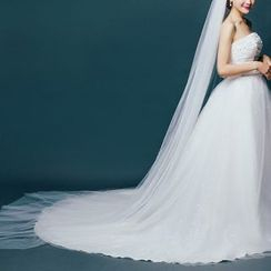 Sky n Sea - Layered Long Wedding Veil