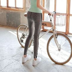 Cherryville - Contrast-Trim Yoga Pants