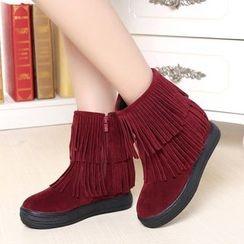 Sunsteps - Fringe Short Boots