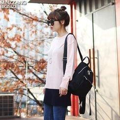 Seoul Fashion - Round-Neck Long Knit Top