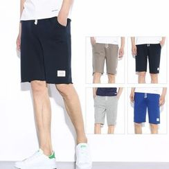 Mr. Only - Applique Sweat Shorts