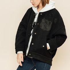 Heynew - Woolen Baseball Jacket