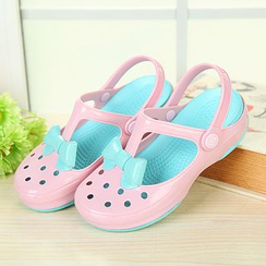 Creamy Blue - Kids Perforated Clogs