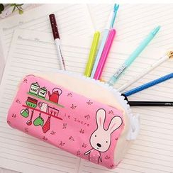 School Time - Rabbit Print Pencil Case