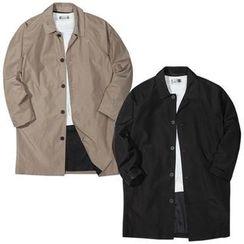 Seoul Homme - Raglan-Shoulder Mac Coat