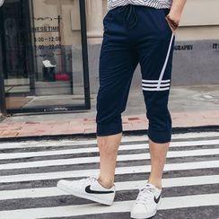 uninukoo - 條紋運動短褲