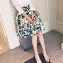 OTTI - Floral Print Skirt