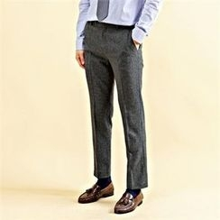 THE COVER - Stripe Straight-Cut Dress Pants