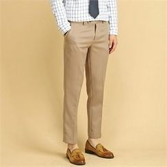 THE COVER - Flat-Front Regular-Fit Pants