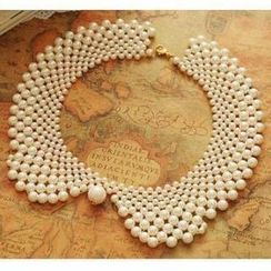 JVL - Faux-Pearl Collar