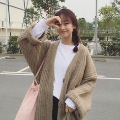 monroll - Chunky Knit Long Cardigan
