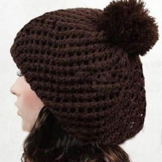Ando Store - Pompom-Accent Knit Beret