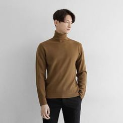 Seoul Homme - Turtle-Neck Knit Top