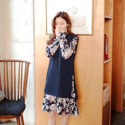 Cherryville - Set: Sleeveless Long Knit Top + A-Line Dress