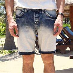 Mannmix - 渐变色牛仔短裤