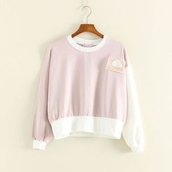 Mushi - Cloud Applique Tipped Pullover
