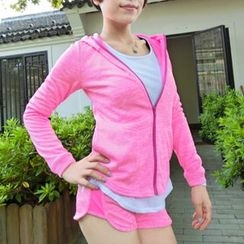 Morning Body - Hooded Sports Zip Jacket