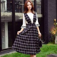 Dabuwawa - Plaid Jumper Dress