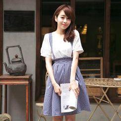 Tokyo Fashion - Plaid Jumper Dress
