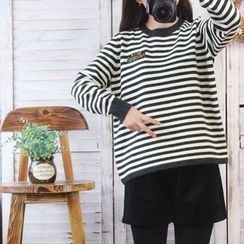 Ranche - Striped Mock Neck Sweater