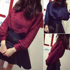 QZ Lady - Set: Textured Top + A-Line Skirt
