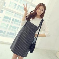 Tulander - Pinstriped Jumper Dress