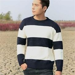 BYMONO - Crew-Neck Rugby-Stripe Sweater