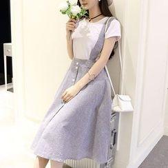 Sakura Rain - Striped Jumper Skirt