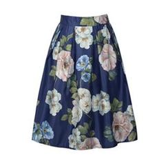 Flore - 印花A字短裙