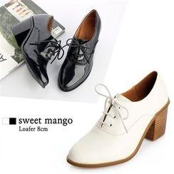SWEET MANGO - Chunky-Heel Oxford Pumps