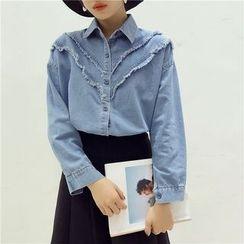 Octavia - Frayed Denim Shirt