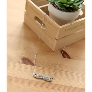 Petit et Belle - Rhinestone Moustache Necklace