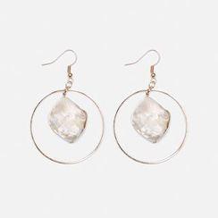 Heynew - Paua Shell Drop Earrings