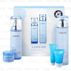 Laneige - New Basic Duo Set: Refiner 200ml + Emulsion 120ml + Pack 20ml + Essence 10ml + Cream 10ml