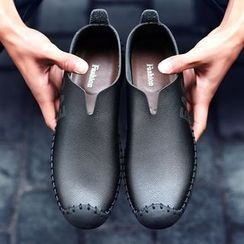 BINSHOU - Genuine Leather Slip Ons